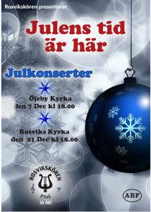 Julkonsert @ Rosviks kyrka