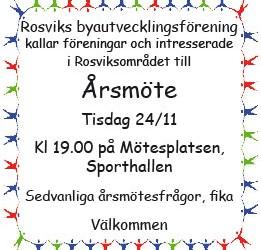 Årsmöte Rosviks byautvecklingsförening