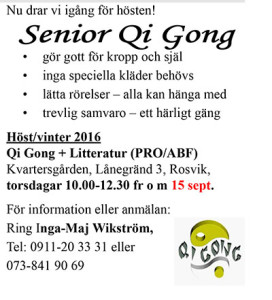 Senior Qi Gong @ Kvarterslokalen | Norrbottens län | Sverige