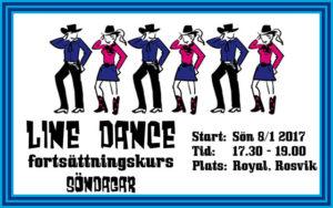 Line Dance Fortsättningskurs VT 2017 @ Royal, Rosvik | Norrbottens län | Sverige