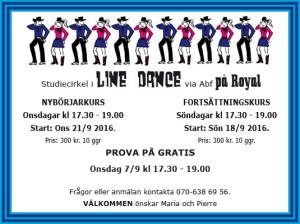 Line Dance Nybörjarkurs @ Royal, Rosvik | Norrbottens län | Sverige