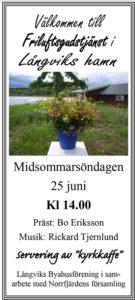 Friluftsgudstjänst @ Långviks hamn
