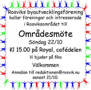 Områdesmöte @ Royal, Rosvik   Norrbottens län   Sverige