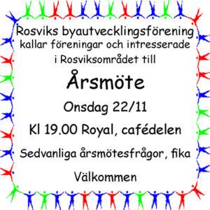 Årsmöte Rosviks byautvecklingsförening @ Royal, Rosvik   Norrbottens län   Sverige