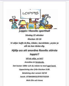 Loppis i Rosvik @ Rosviks Sporthall