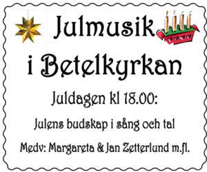 Julmusik i Betelkyrkan @ Betelkyrkan | Norrbottens län | Sverige