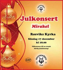 Julkonsert med Rosvikskören @ Rosviks kyrka | Norrbottens län | Sverige