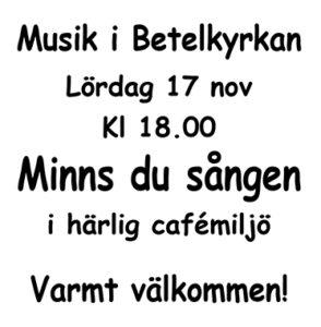 Minns du sången @ Betelkyrkan | Norrbottens län | Sverige
