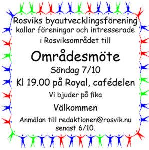 Rosvik Områdesmöte @ Royal, Rosvik | Norrbottens län | Sverige