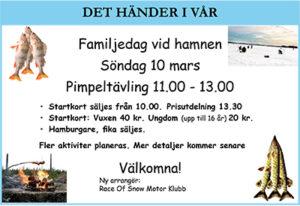 Familjedag med pimpeltävling @ Klubben/Hamnen