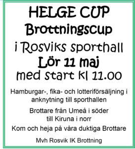 Helge Cup @ Sporthallen, Rosvik