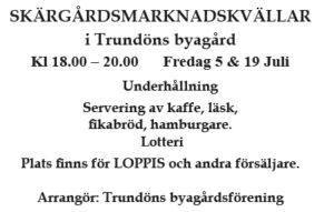 Skärgårdsmarknadskvällar @ Trundöns byagård